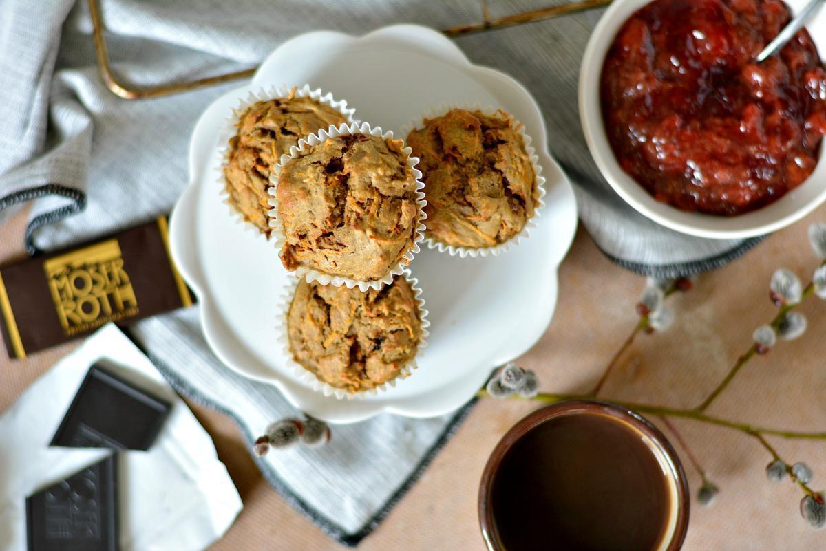 żytnie muffiny marchewkowe